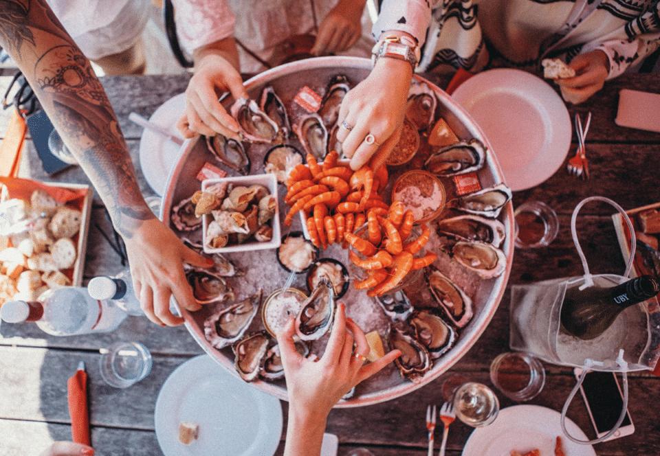 shrimps wine